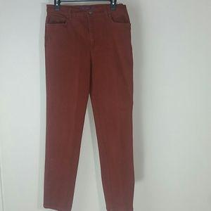 Gloria Vanderbilt jeans burgundy high-rise
